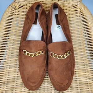 Forever 21 flats brown faux suede sz 10 sh…